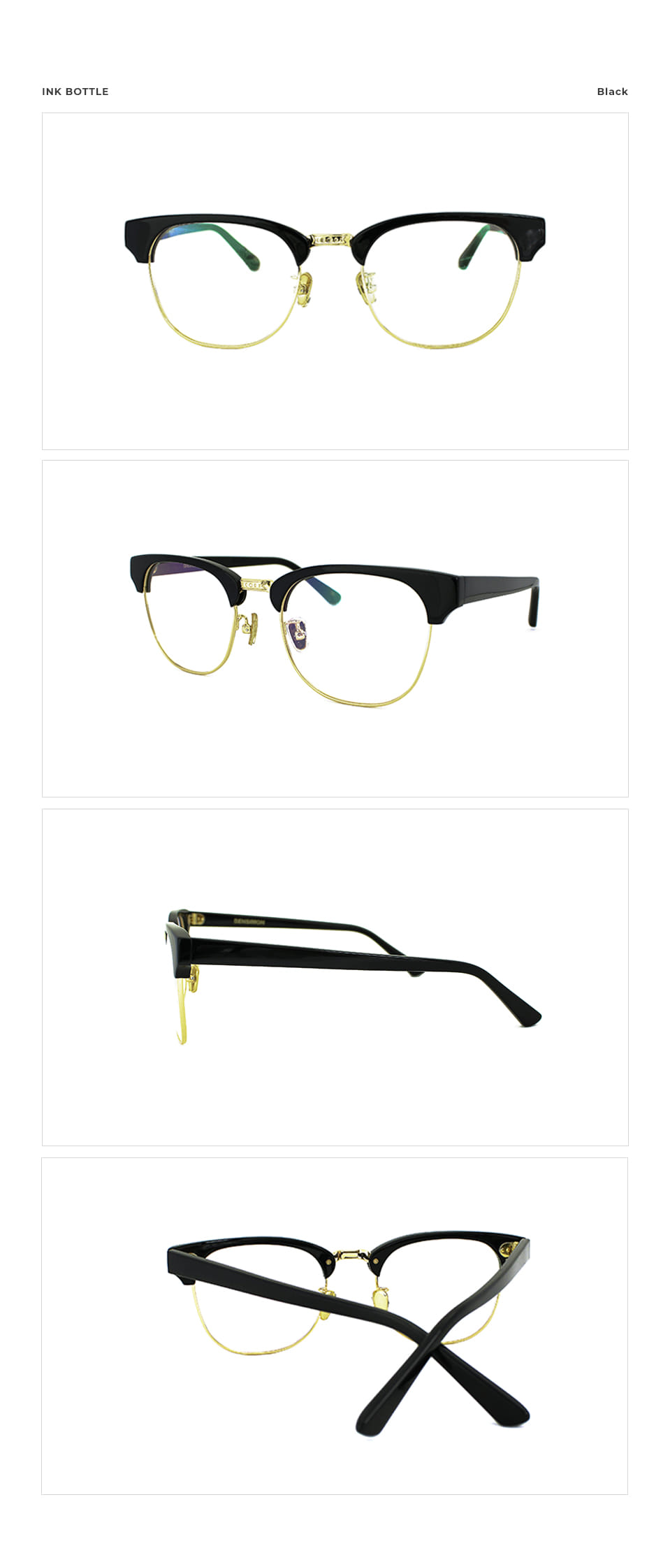 벤시몽아이웨어(BENSIMON EYEWEAR) BENSIMON Ink Bottle Black